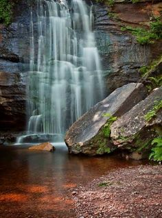 Hungarian Falls Nature Area, Keweenaw Land Trust, Michigan This fslls are beautiful ! Hiked it years ago! Michigan Vacations, Michigan Travel, Michigan Usa, Northern Michigan, Lake Michigan, Oh The Places You'll Go, Places To Travel, Places To Visit, Wonderful Places