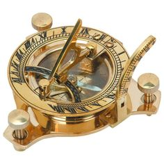 """Working Marine Prop Vintage Collectible Brass Nautical Sundial Compass 2.5/"""""""