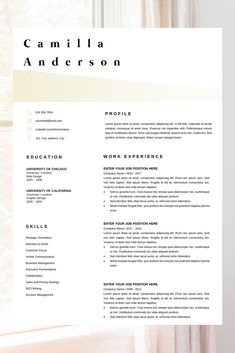 Resume Layout Microsoft Word Creative Color Resume Resume Template Instant Download Modern Cv .