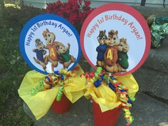 Alvin and the chipmunks centerpiece toppers 2 for 12.00