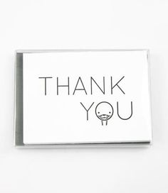 The cutest way to say thank you! This set of six folded letterpress note cards includes a bear, raccoon, walrus, dog, koala, and beaver. Set of 6 $18