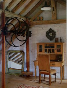 Red room Water Mill, Red Rooms, Lofts, Sorting, Retro Vintage, Restoration, Boards, Gardening, France