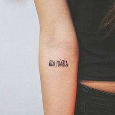'Vida mágica' · '#Magic #life' on Bel (via @tattoofilter) #littletattoo #smalltattoo #girls #love #art #awesome #fashion #style #quotes