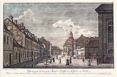 Berlin in alten Bildern, Mauerstraße mit Dreifaltigkeitskirche, 1780, Johann Georg Rosenberg