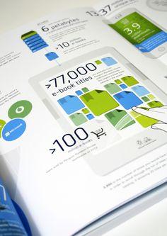 Bertelsmann Annual Report 2013 Infographics  by Bureau Oberhaeuser, via Behance