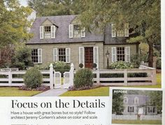 Bates-Corkern Studio in Southern Living    love the green siding. Also wish Springfield allowed front yard fencing!