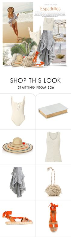 """""""Espadrilles"""" by thewondersoffashion ❤ liked on Polyvore featuring Solid & Striped, House Doctor, Sophie Anderson, rag & bone, Zimmermann, Carolina Santo Domingo and Salvatore Ferragamo"""