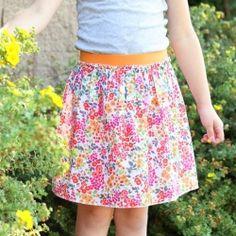 Elastic band skirt...the fastest skirt you'll ever make!