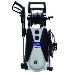The AR Blue Clean AR390SS Cold Water Electric Pressure Washer 2000 PSI – offers unmatched durability, power and because they are exceptionally easy to use they set themselves apart from all others. The AR Blue Clean S-Line of Electric Pressure Washers kept the basic principals of the original Blue Clean washers while completely redesigning the body of the machine. Adding a gun holster and larger cord storage.