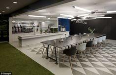 Google's New, Futuristic London Engineering Floor - Office Snapshots
