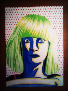 Madison Nicole Ziegler pop art style