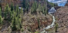 Waterfalls - Rustic Falls - The Waterfalls of Yellowstone National Park (Images and Map)