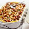 Bean-and-Beef Enchilada Casserole. My family loves this .  I used jalapeño instead of green chilies