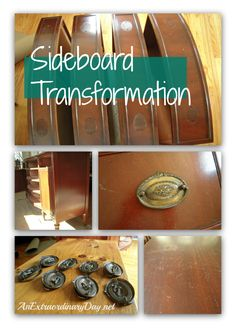 AnExtraordinaryDay.net - Vintage Mahogany Sideboard Transformation with Annie Sloan Chalk Paint - DIY Paint Project