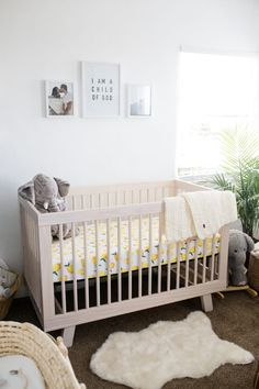 This boho nursery is