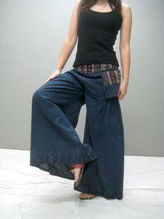 WAZU wide legs yoga pant 265.1 by thaitee on Etsy