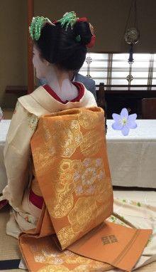 Darari obi of okiya Daimonji (Kamishichiken)