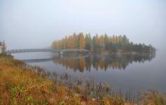 Tyyni Oulujoki. Vaala 26.9 2017 - pekka.k.hatunen (@PHatunen)   Twitter Endless Night, Finland, Attraction, Scenery, Journey, Calm, Autumn, River, Landscape
