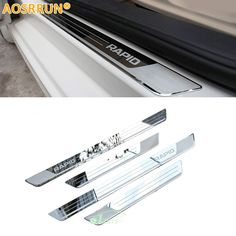 Exterior Accessories Ultra Thin Stainless Steel Scuff Plate Door Sill Cover Sticker Suitable For Skoda Kodiaq 2016 2017 2018 Car Accessories
