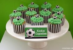 Green icing for Soccer Theme cupcakes Soccer Birthday Parties, Football Birthday, Soccer Party, Birthday Party Themes, Birthday Ideas, Birthday Diy, Football Soccer, Soccer Ball, Cupcake Party