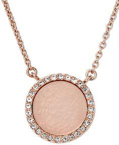 Romantic: the super soft Rose-Gold Tone of this great Michael Kors Necklace. Fashionette.de