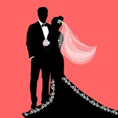 Light Blue Wedding Dress, Wedding Dresses With Flowers, Wedding Couples, Wedding Bride, Couple Silhouette, Silhouette Png, Bride Clipart, Wedding Background, Wedding Frames