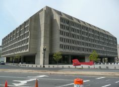 Hubert H. Humphrey Building. Headquarters building of the U.S. Department of Health and Human Services (HHS). Designed by Marcel Breuer in the Brutalist style.