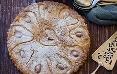 Easy Crustless Lemon Tart - Recipe Winners Apple Cake Recipes, Tart Recipes, Almond Recipes, Dessert Recipes, Free Recipes, Italian Pear Recipes, Cake Receipe, Healthy Recipes, Gf Recipes