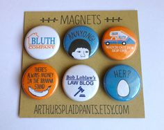 Arrested Development, magnet set, arrested development art, there's always money in the banana stand, bluth company deluxe magnet set