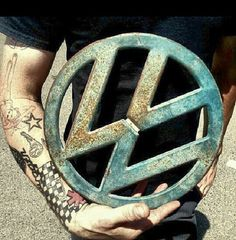 vw emblem in arms
