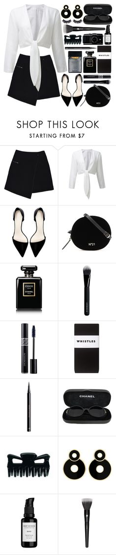 """""""Black and white and Chanel"""" by gwynnieluree ❤ liked on Polyvore featuring MARC CAIN, Zara, Chanel, Givenchy, Christian Dior, Whistles, H&M, Root Science, Lancôme and Battington"""