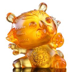 New Zodiac Collection (Tiger, Courageous) - Little Valiant One – LIULI Crystal Art | Luxury Collectible Glass Art