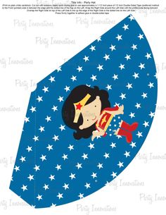 I'm in love.  Printable Wonder Woman Party Hat. $5.00, via Etsy.
