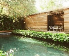 Modern outdoor living with pool #exteriors