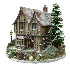 1:48th Winterberry Hall & Base By Bea Broadwood of www.petite-proper... (Picture shows constructed, decorated & landscaped kits)