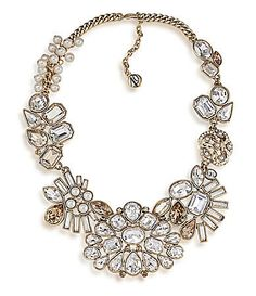 Carolee 40th Anniversary Legacy Collection Crystal & Faux Pearl Collar Necklace