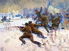 Семенов Алексей Николаевич (Россия, 1928) «Герои боя на реке Уссури» 1981