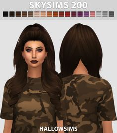 Skysims 200 - Comes in 18 colours. - Best used with hairline. - Smooth bone assignment. - Hat compatible. - All LOD's. - Little transparency issues. - Custom Ambient Occlusion (Shadow Map) - HQ mod compatible - Mesh credits to...