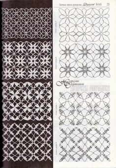 Photo from album Дуплет on Yandex.Use imgbox to upload, host and share all your images.Hopefully the diagrams are enough. Filet Crochet, Crochet Stitches Chart, Crochet Symbols, Crochet Lace Edging, Crochet Motifs, Crochet Diagram, Irish Crochet, Knitting Stitches, Crochet Flowers