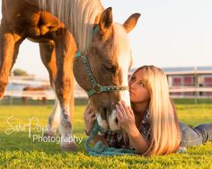 One of my favorites from this session!  It's just full of golden light yumminess and the connection between the two just makes me all warm inside <3 Sara Pope Photography / natural light / Brentwood CA / Oakley / Bay Area Photographer / East County / the golden hour / horse / cowgirl / country girl / stables / barn / country / photography / portrait /