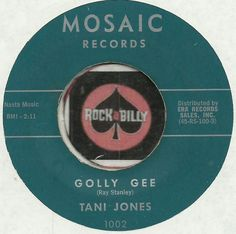 TANI JONES Golly Gee ROCKABILLY TEEN GIRL BOPPER 45 RPM RECORD VG++   JOIN ME ON FACEBOOK:  https://www.facebook.com/#!/groups/173196599474213/