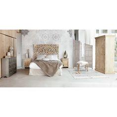 Tête de lit sculptée en manguier massif L 160 cm | Maisons du Monde