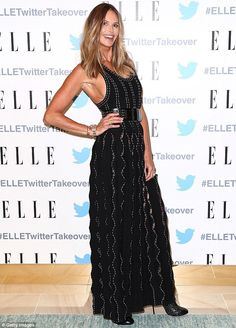 Showing them how it's done: Supermodel Elle Macpherson left heads turning on…