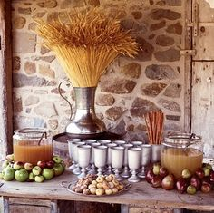 I don't really like the barley look but the cidar with the apples is way cute.