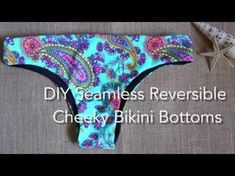 DIY Seamless Reversible Cheeky Bikini Bottoms, My Crafts and DIY Projects