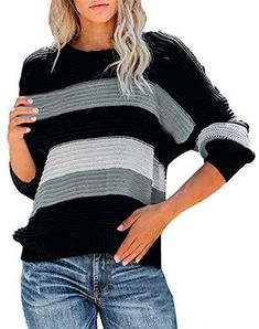 Ladies  O Neck Button Striped Casual Pullover Sweaters, Hooded Sweatshirts, Basic Hoodie, Tie Dye T Shirts, Chic Dress, Sweater Jacket, Casual Wear, Long Sleeve Shirts, Button