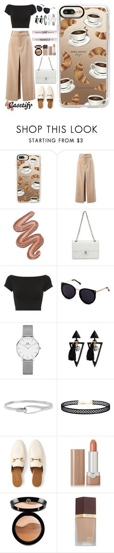 """""""What you need for Tuesday ☕️"""" by casetify ❤ liked on Polyvore featuring Casetify, Chloé, Violet Voss, Chanel, Helmut Lang, Daniel Wellington, Diane Von Furstenberg, LULUS, Gucci and Marc Jacobs"""