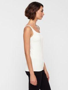 Scoop Neck Long Slim Cami in Stretch Silk Jersey
