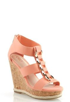 Cato Fashions Chain Link Wedges #CatoFashions