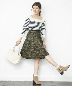 秋冬は迷彩柄スカートを大人っぽく上品に着こなしたい♡♡♡ - NAVER まとめ